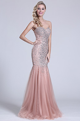 eDressit Strapless Sweetheart Beaded Prom Gown (C36151146)