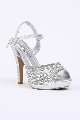 Silver Crystal High Heels (09150526)