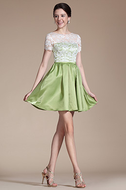 2014 New Overlace Top Cocktail Dress Day Dress (C04140904)