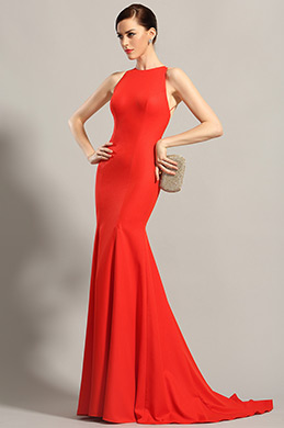 eDressit Sleeveless Red Formal Dress Evening Gown (00155202)
