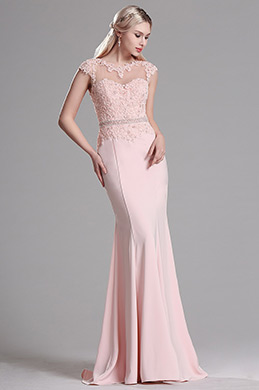 eDressit Pink Lace Beaded Mermaid Evening Dress Prom Gown (36163501)