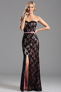 eDressit Pink Overlace Slit Evening Dress Formal Dress (X07151201-3)