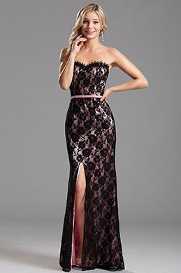 eDressit Robe de soirée longue bustier  en dentelle rose (X07151201-3)