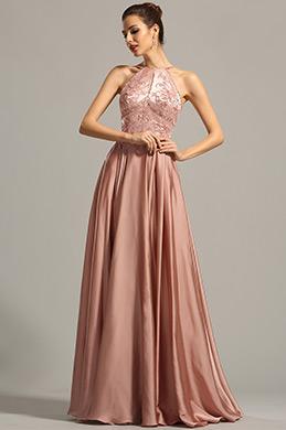 eDressit robe soirée originale brodée bretelles spaghetti (02154546)
