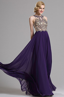 eDressit Purple Sleeveless Beaded Prom Evening Gown (36163306)