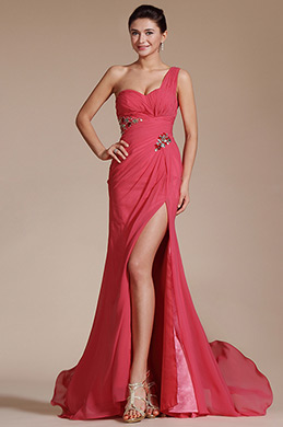 2014 New One Shoulder Evening Dress (C00140257)