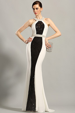 Stylish Beaded Halter Neck Evening Gown Formal Dress (C36152907)