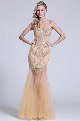 eDressit Robe de bal sirène beige décolleté coeur bijoux (C36150914)