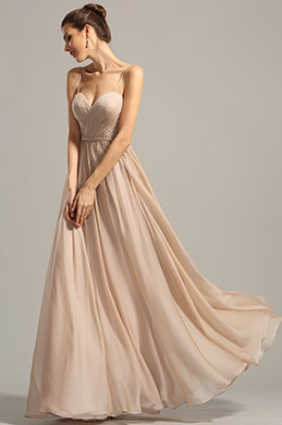 A Line Spaghetti Straps Evening Dress Formal Dress (00154714)