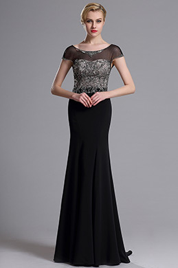 eDressit Illusion Neckline Beaded Mermaid Prom Evening Dress (02163600)