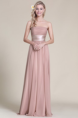 eDressit Strapless Bridesmaid Dress With Pleated Bodice (07151446)
