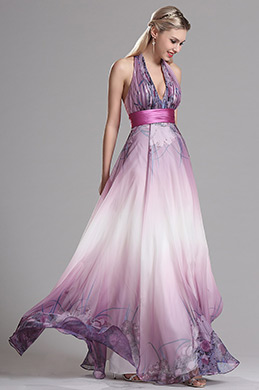 eDressit Purple Halter Floral A Line Evening Dress (X07158006)