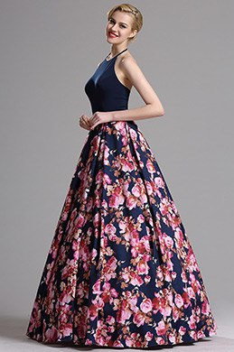 eDressit Halter Neck Floral Prom Evening Dress (02162868)