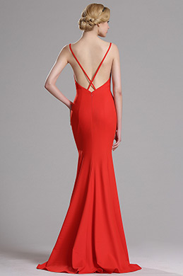 eDressit Red Strapped Mermaid Evening Prom Dress(00163402)