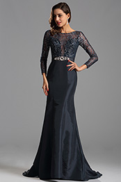 eDressit Navy Blue Illusion Lace Bodice Formal Dress (X02152905)