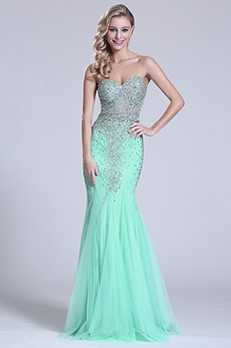eDressit Strapless Sweetheart Beaded Green Prom Dress (C36151204)