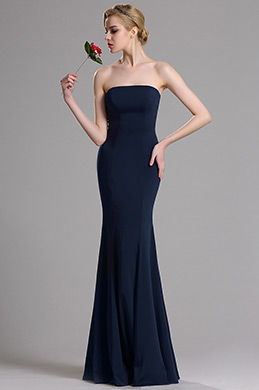 eDressit Dark Blue Strapless Evening Dress (00163605)
