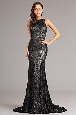 eDressit Dark Grey Sequin Formal Dress Evening Dress (X00155208-1)