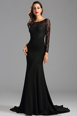 eDressit Long Sleeves lace Bodice Mermaid Prom Evening Dress (26162600)