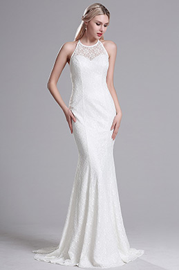 eDressit White Halter Straped Mermaid Wedding Gown Bridal Dress (X00163707-1)