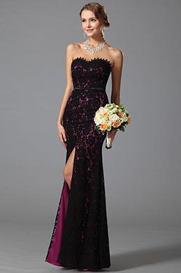 eDressit robe de soirée longue en dentelle sans bretelle (07151212)
