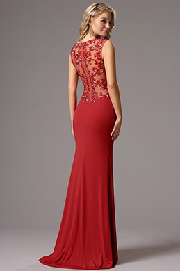 eDressit Sleeveless Beaded Sweetheart Neck Red Prom Gown (36161002)