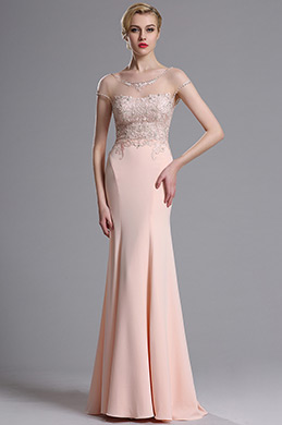 eDressit Rosa Mermaid Abschlussball Abendkleid (02163601)