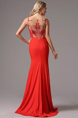 eDressit Robe de Soirée Sans Manches Bretelles Rouge (00162302)