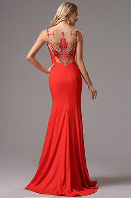 eDressit Rot Träger Maxi Prom Abendkleid(00162302)