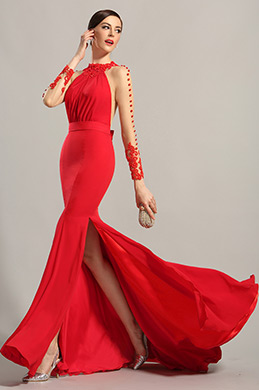 eDressit Long Sleeves Red Evening Dress Prom Gown (02150102)