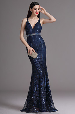eDressit Sexy Blau glitzernde Formal Abendkleid (00165305)