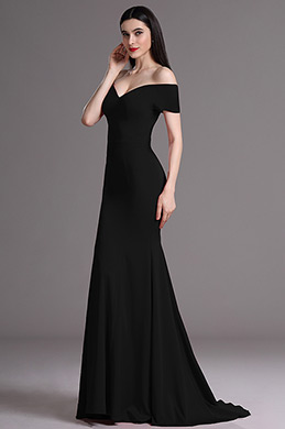 eDressit Elegant Black Off Shoulder Mermaid Formal Dress (00165200)