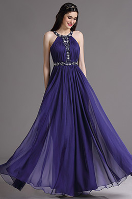 eDressit Purple Halter Evening Dress with Embroidery and Beads (00164706)