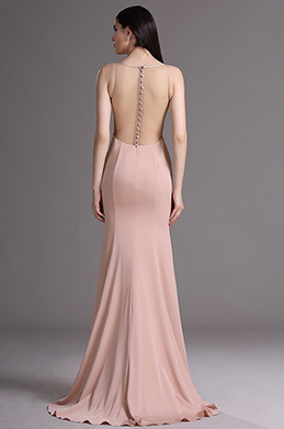 eDressit Blush Sleeveless Mermaid Evening Gown Prom Dress (00165546)