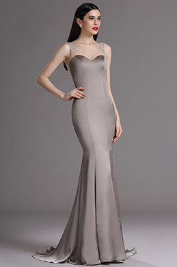 eDressit Grey Beaded Sweetheart Formal Dress with Embroidery (02165608)