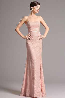 eDressit Blush Overlace Bridesmaid Dress with Sweetheart Neckline (07153046)