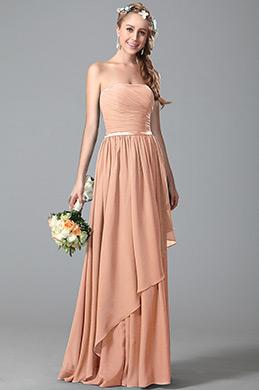 eDressit Robe Demoiselle d'Honneur Sans Bretelle Brun Rosé (07156346)