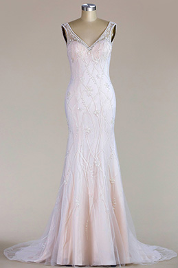 eDressit Sleeveless V Neck Mermaid Wedding Dress (F02010122)