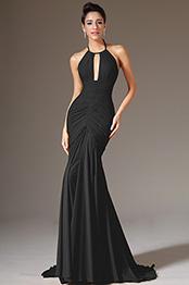 eDressit Halter Black Sheath Formal Evening Dress (07157300)