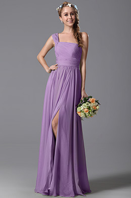 eDressit Purple One Shoulder Slit Bridesmaid Dress (07156906)