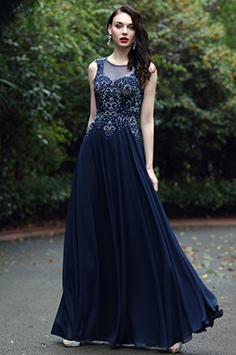 eDressit Blue Sweetheart Prom Gown with Lace and Beads (36170405)