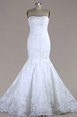 eDressit Strapless Lace Mermaid Wedding Dress (F04014338)