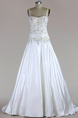eDressit Spaghetti Straps Beaded Mermaid Wedding Dress (FP06017658)