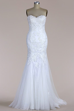 eDressit Strapless Lace Mermaid Wedding Dress (F09068550)