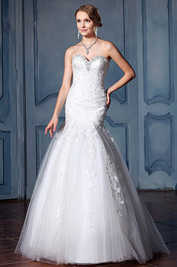 eDressit Sweetheart Beaded Neckline Wedding Dress (F02020025)