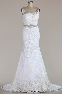 eDressit Sleeveless Beaded Lace Mermaid Wedding Dress (F02010003W)