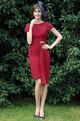 eDressit Burgundy Lace Mother of the Bride Dress (26170117)