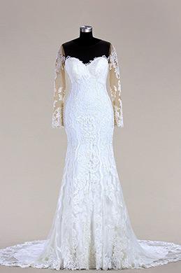 eDressit Long Sleeves Lace Mermaid Bridal Dress (F09618089)