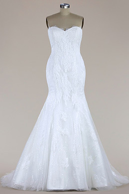 eDressit Strapless Lace Mermaid Wedding Dress (F09650221)