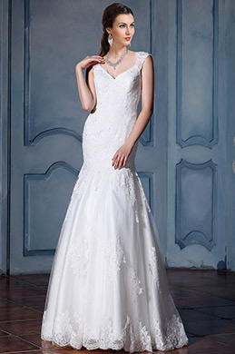 eDressit Cap Sleeves Lace Bridal Gown (F02010027)